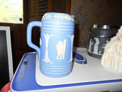 Vintage Dudson Hanley Blue Dip Jasperware Jug