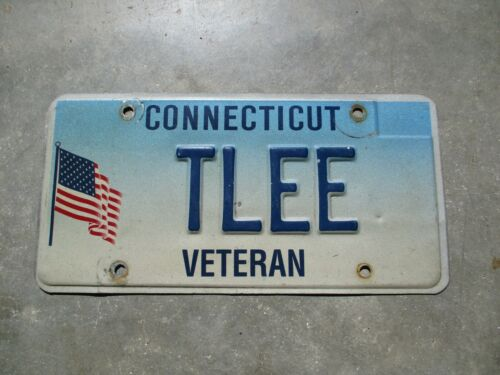 Connecticut Veteran license plate #  TLEE