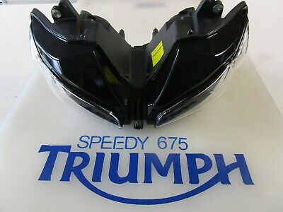 TRIUMPH DAYTONA 675 HEADLIGHTS LEFT HAND DIP T2707701 UK 2009 - 2012