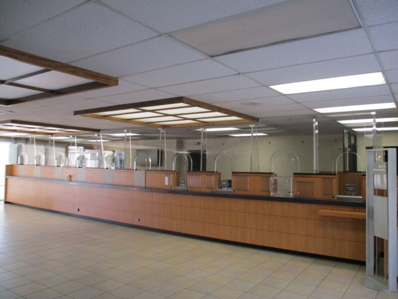 Ballistic Bullet Proof Glass For Bank Teller Store 40 Feet Total 4 Foot sections