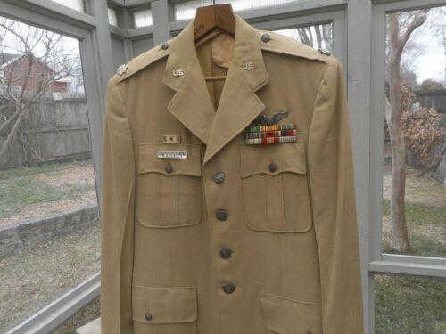 Named. US Air Force Pilots Khaki Tropical Wool 1949-65 Uniform Coat.
