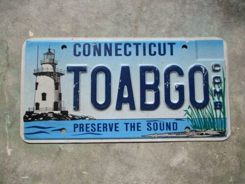 Connecticut COMB Light House license plate  #  TOABGO