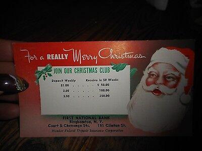 Vintage First National Bank Christmas Club