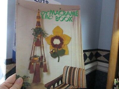 The Macrame Book 13 Projects Sunflower Poinsettia Fish Plant Hangers Owls  - Fish Art Projects