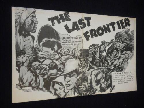 Lon Chaney Jr The Last Frontier 1932 R42 Serial Pressbook Western