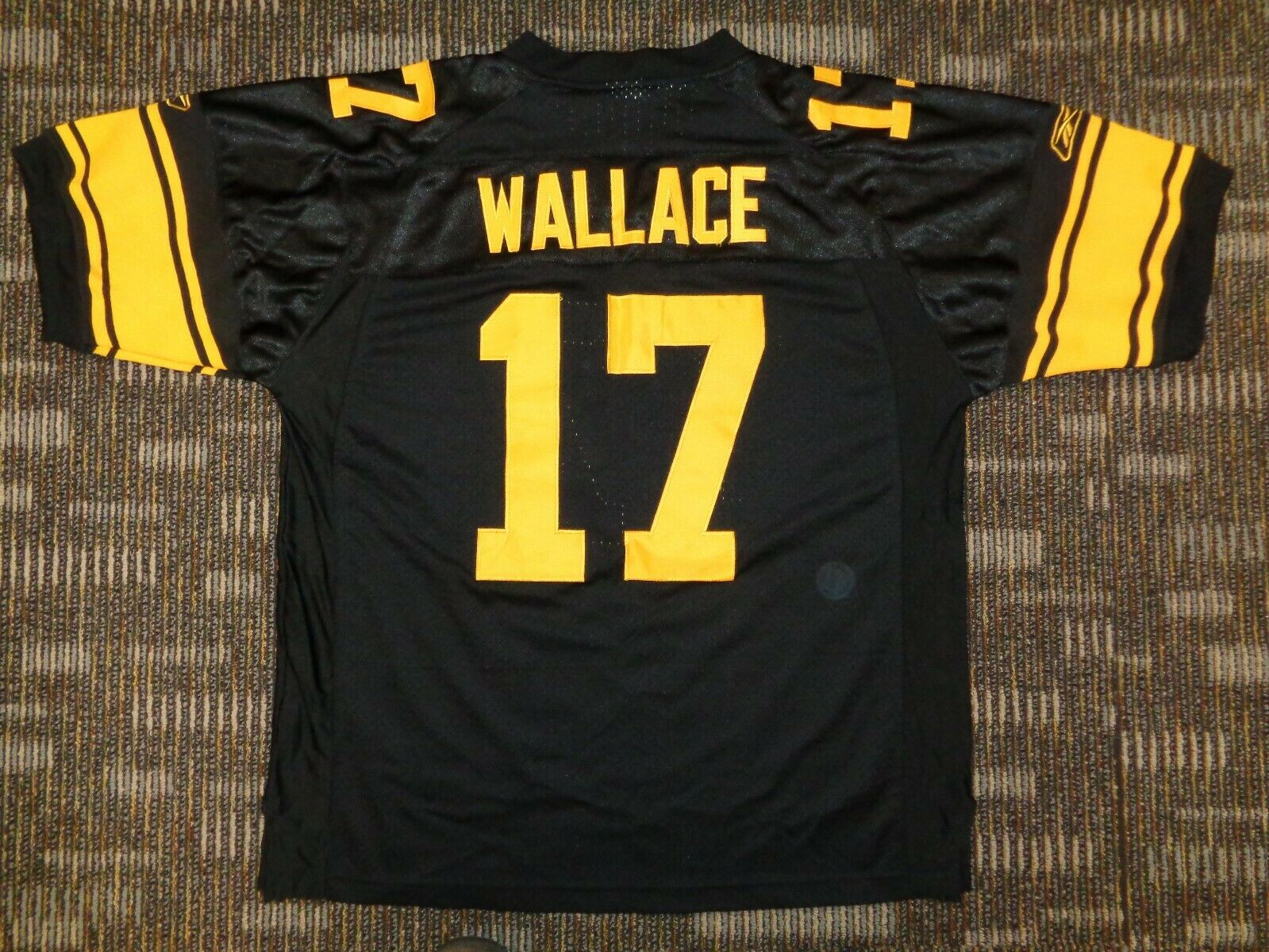 LOT 2-TROY POLAMALA MIKE WALLACE PITTSBURGH STEELERS REEBOK NFL GAME JERSEYS - $49.99