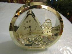 Rhythm Quartz Clock Stairway to Heaven Angels in Motion Spinning Pendulum Mantel