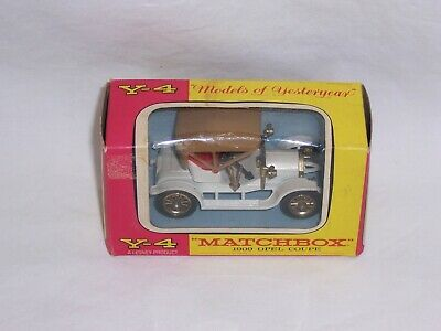 VTG Lesney Matchbox Y4 1909 Opel Coupe Models Of Yesteryear Window Box Version