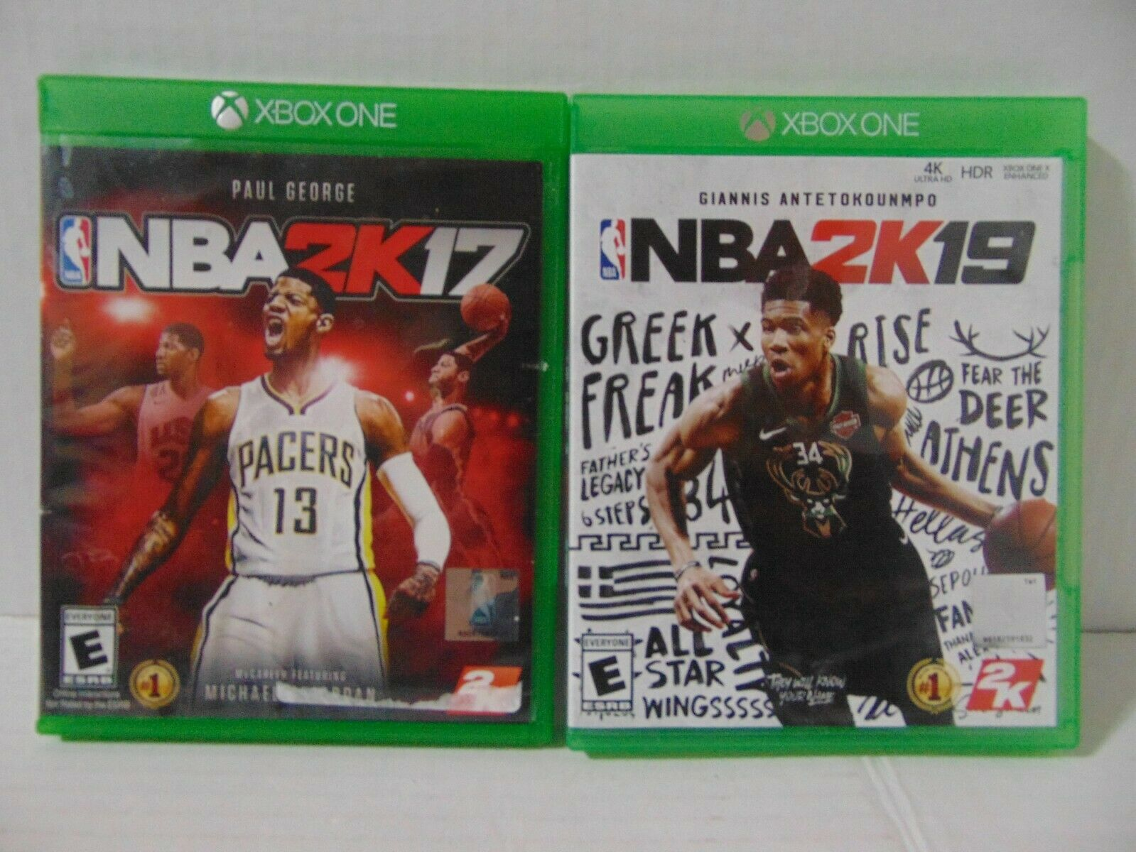 (2) Pack of Xbox One Games - NBA 2K19 & NBA 2k17 - Free Shipping!