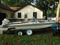 1983 Ozark T-164 Johnson Outboard Trailer South Bend, IN | No Fees & No Reserve