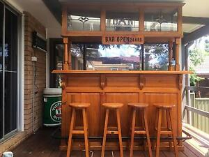 Timber bar with 4 stools Glossodia Hawkesbury Area Preview