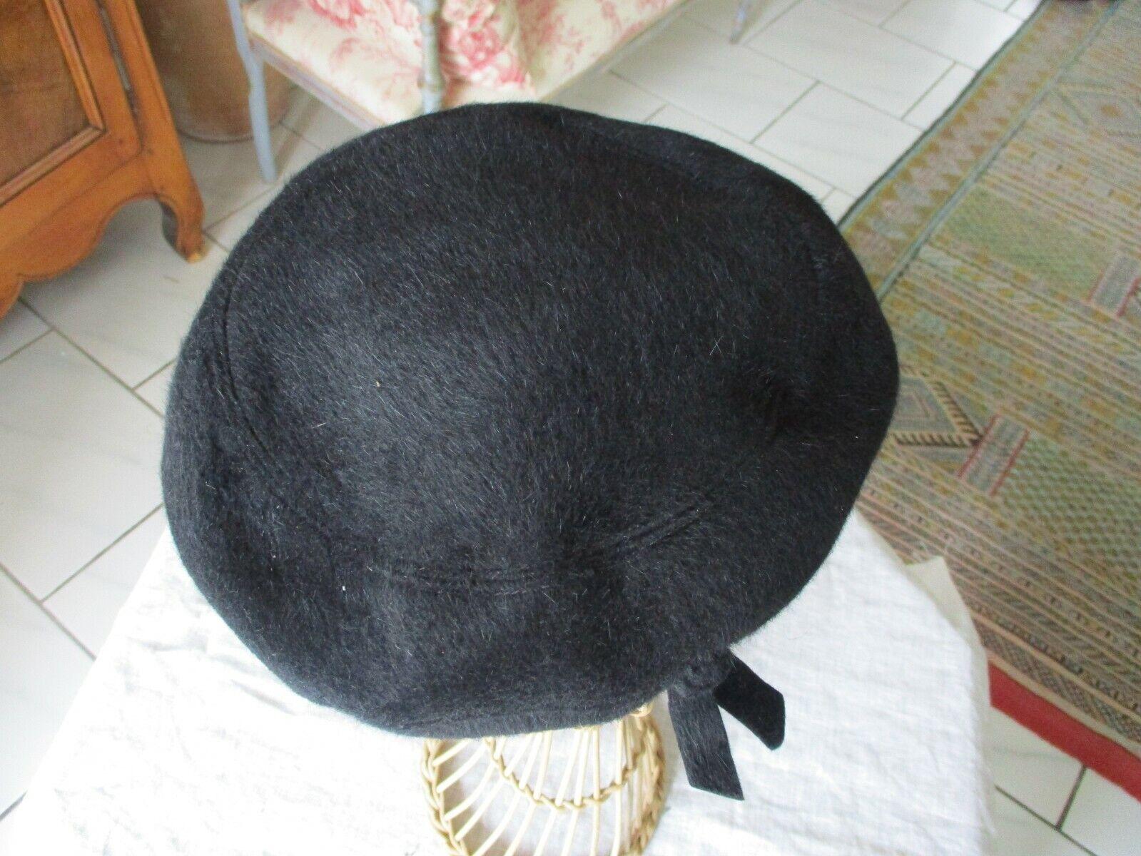 Ancien chapeau toque beret flechet femme ou homme tres belle qualite t 55