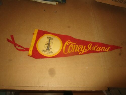 "Coney Island Felt Pennant - Parachute Jump 18"" Long Great Graphics"