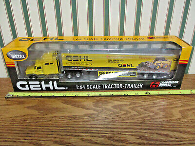 Gehl Construction International Semi With Van Trailer By DCP 1/64th Scale