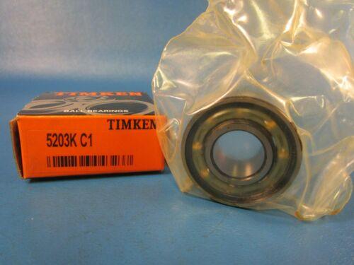 "Timken 5203K C1, Double Row Ball Bearing, 17 mm ID x 40 mm OD x 0.6875"" W"