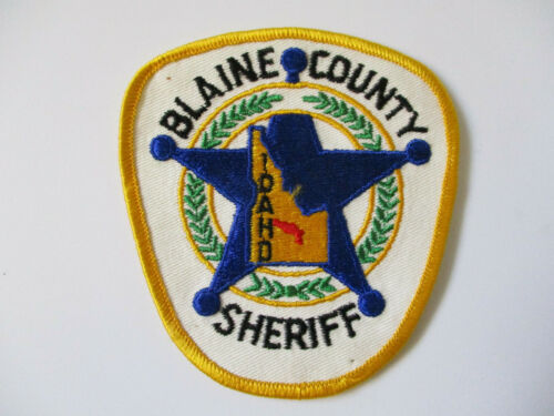 vintage 1970 era Blaine County Idaho Sheriff Cotton Twill Police Patch