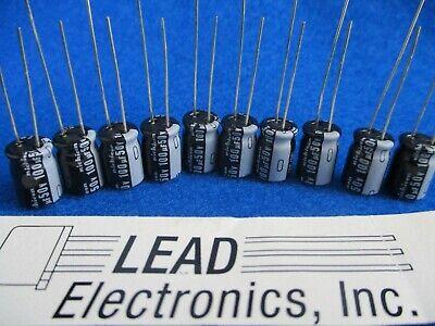 Qty 10 100uf 50volt Hi-temp Low Esr Radial Capacitor Nichicon Uhe1h101mpd