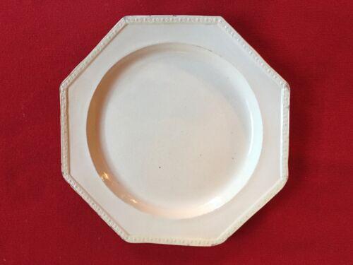 Antique 18th century English Georgian Creamware Octagonal Plate Leeds