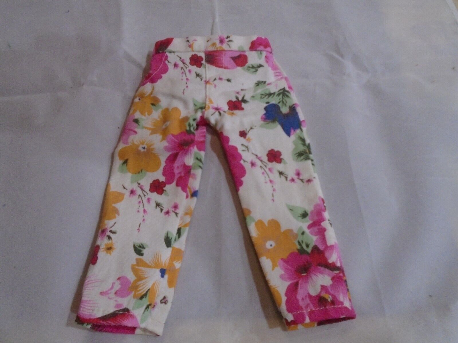 Vintage Doll Pretty Floral Slacks/Pants. Maybe For American Girl Or Batta Doll - $5.00