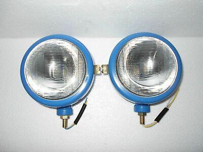 Ford Tractor Head Light Set Lh Rh - 12 V Blue