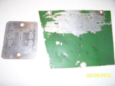 Vintage Oliver 550 Tractor -serial Tag  Shift Pattern Plate- 1964