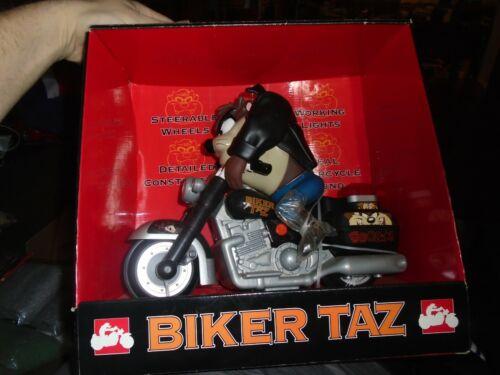 Biker Taz 1995 Vintage Looney Tunes Motorcycle Warner Bros Studio Store ACME Toy