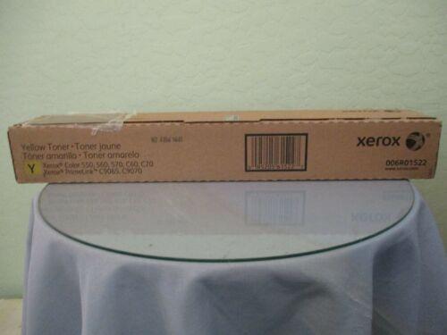 Genuine Xerox Color 550, 560, 570, C60, C70 Yellow Toner New! 006R01522