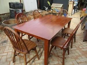 6 Seat Timber Dining Setting