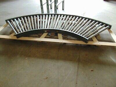 Hytrol Gravity Roller Conveyor Corner 90 Degree With Legs