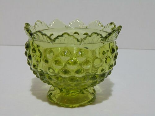 Fenton Hobnail Glass Taper Votive Candle Holder Colonial Green