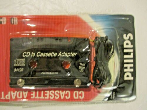 Philips CD to Cassette Adapter Audio Kit DC Power Converter Old Stock Sealed Car
