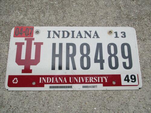 Indiana University 2013 license plate  #   HR8489