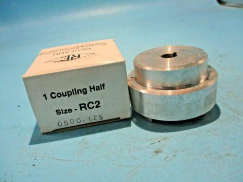 """NEW REULAND RC2-0500-125 ALUMINUM COUPLING 1/2"""" BORE 1/8"""" KEY"""