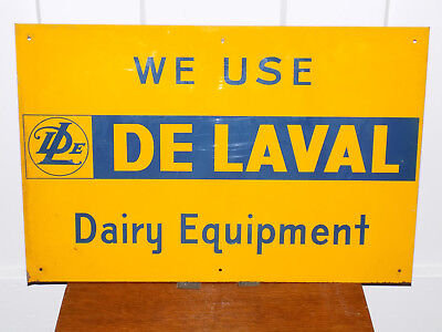 We Use De Lavel Dairy Equipment Metal Sign for sale  Shipping to Canada