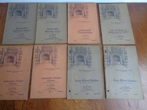 Vintage Lot of 8 AUTOMOBILE Correspondence Schools BookletS C.R. STROUSE