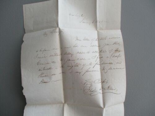 1841 RARE Elisha Hunt Allen (Kingdom of Hawaii Diplomat,Judge) signed ALS letter