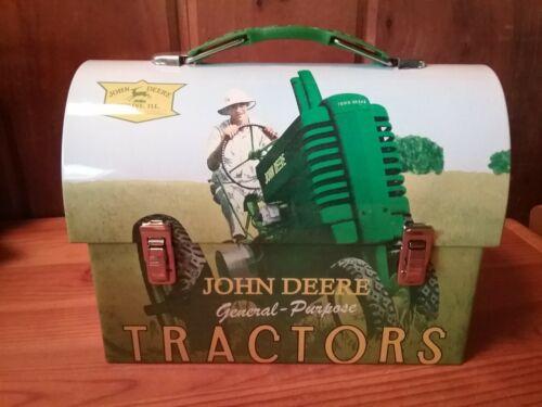 John Deere GP General Purpose Farm Tractors Tin Mini Dome Lunch Box