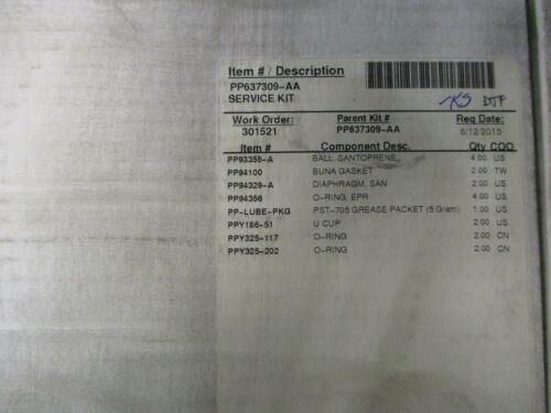 NEW PUMPER PARTS  PP637309-AA PUMP REPAIR SERVICE KIT