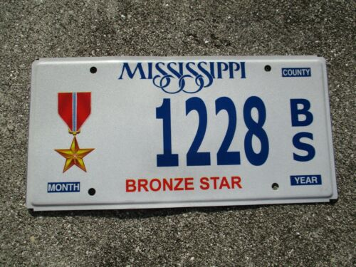 Mississippi Bronze Star license plate  #   1228