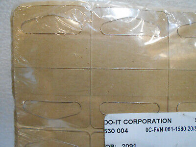 Lot Pack Of 1000 Hang Tabs For Retail Hook Display 1 58 X 1 14 Triangle