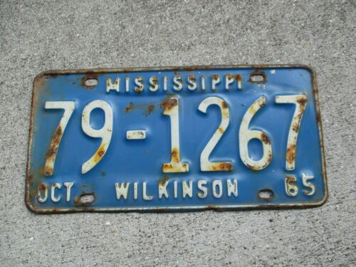 Mississippi 1965  license plate #  79 - 1267
