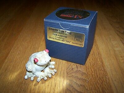 """NEIL EYRE DESIGNS 2003 """"CHARITY TREE FROG"""" ITEM# EDCF02 NUMBERED LIMITED EDITION"""