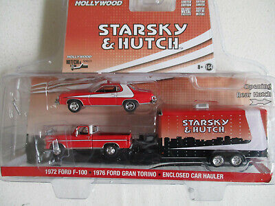 Miniatur 1/64 oder 3 Zoll Greenlight Satz von 3 Starsky Hutch Ford F 100 Torino (Miniatur 1 64)