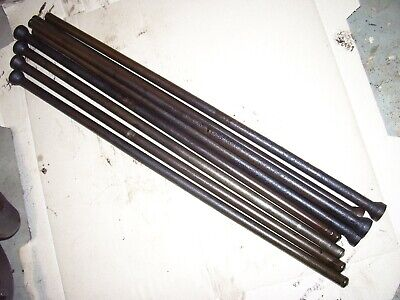 Vintage Ji Case 400 Gas Tractor -engine Push Rod Set - All Straight -1955