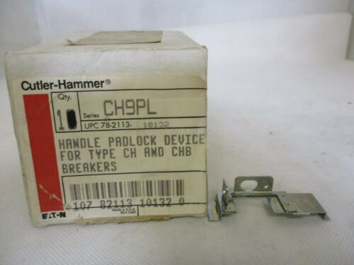 NEW EATON/CUTLER-HAMMER CH9PL HANDLE PADLOCK DEVICE FOR CH&CHB BREAKERS