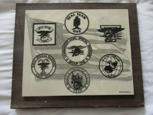 Cultured Marble Commander Naval Special Warfare Group One Plaque / US Navy SEAL