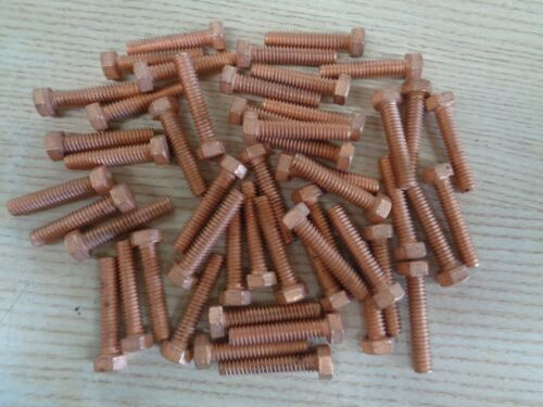 "1/4""-20 X 1-1/4  in. gr. 5 copper plated bolt  (Pack of 50)"