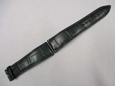 Blancpain 22mm x 18mm Green Reptile Leather Watch Strap Bands Pair 115mm + 75mm