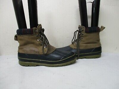 Itasca Thinsulate Brown Leather Rubber Lace Duck Boots Mens Size 10 Itasca Rubber Boots