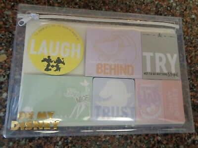 Disney Store Oh My Disney Sticky Note Set Of 7 Cheshire Cat Lion King Mickey New